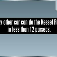 My Other Car Can Do The Kessel Run in Less Than 12 Parsecs Funny Star Wars bumper sticker Han Solo Millenium Falcon