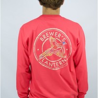 The Long Sleeve Pheasant Tee in Coral