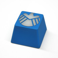 Three Beeline S.H.I.E.L.D. Hand-Crafted Backlit Keycap - Blue