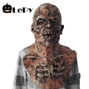 LePy Scary Halloween Mask Zombie Latex Bloody Scary Disgusting Full Face Mask Costume Party Cosplay Prop