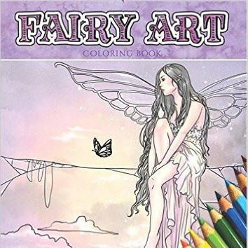 Fairy Art Adult Coloring Book