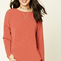 Longline Dropped-Sleeve Top