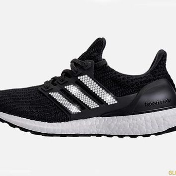 Adidas Ultraboost + Crystals - Black/White