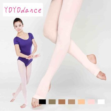 Women Stockings High Waist Plus Size Pantyhose Dance Thigh Highs Tights Soft Elastic Collant  Adult Ballet Stirrup Tights 4822