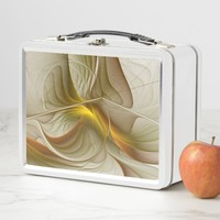 Colors of Precious Metals, Abstract Fractal Art Metal Lunch Box