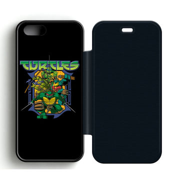Ninja Turtles Movie Leather Wallet Flip Case iPhone 5 | 5S