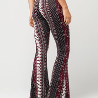 FULL TILT Ethnic Floral Womens Flared Pants | Pants & Joggers