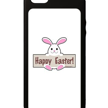 Cute Bunny - Happy Easter iPhone 5C Grip Case  by TooLoud