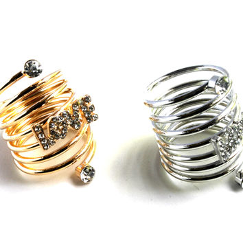 """""""Wrapped In Love"""" Ring With Bling"""