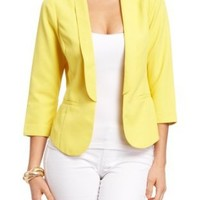 Amazon.com: 2B High Low Blazer: Clothing
