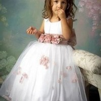 Don's Bridal Ball Gown Girls Gowns Flower Girl Dress\baby Party Dress And Flowers Kids Prom Dresses