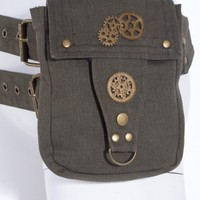 Green Steampunk Pocket Belt