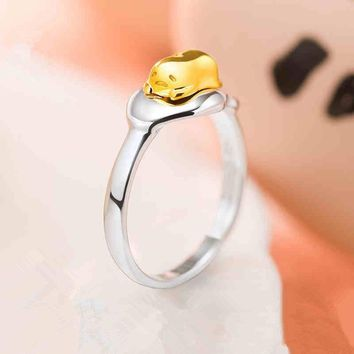 2016 New Anime Gudetama 925 Silver Ring Accessories US size 7 Cos Gift Limited Free shipping