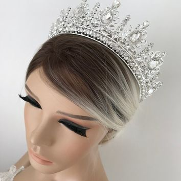 Silver or Gold Tiara Bridal Crown Crystal Wedding Tiara Wedding Hair Accessory Wedding Headpiece Bridal Hairpiece Swarowski Crystals