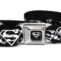 Superman DC Comics Superhero Paint Splatter Logo Seatbelt Belt
