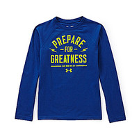 Under Armour 8-20 Prepare For Greatness Long-Sleeve Tee - American Blu