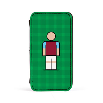 West Ham Premium Faux PU Leather Case Flip Case for Apple iPhone 4 / 4s by Blunt Football