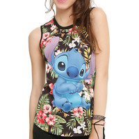 Disney Lilo & Stitch Floral Girls Muscle Top