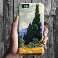 Wheat Field with Cypresses - Van Gogh iPhone Case 6, 6S, 6 Plus, 4S, 5S. Phone Cell. Art Painting. Gift Idea. Anniversary. Gift for him/her