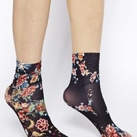 Emilio Cavallini Socks in Rose Print