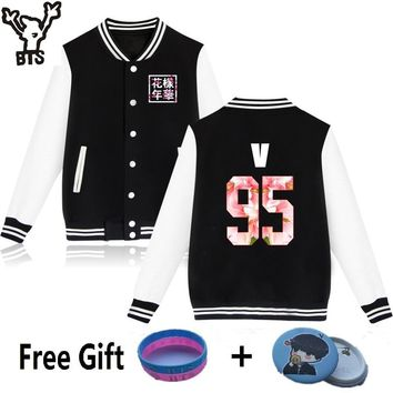 KPOP BTS Bangtan Boys Army    hoodies for men women  boys album floral letter printed  sweatshirt  young forever plus size clothing AT_89_10