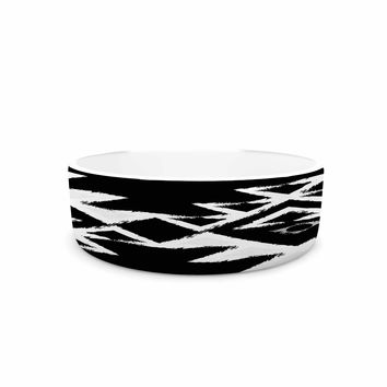 "Nika Martinez ""Black Hurit"" Gray White Pet Bowl"