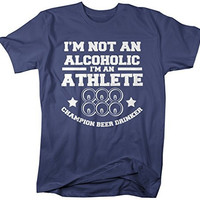 Shirts By Sarah Men's Funny Drinking Athlete T-Shirt Beer Drinker Champion Shirts