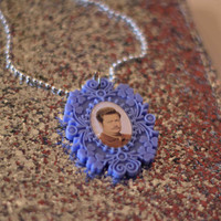 Ron Swanson cameo necklace - Parks and Recreation - PIXIE and PIXIER
