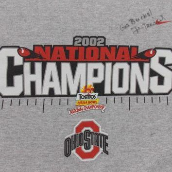 Ohio State University Jim Tressel Signed 2002 OSU National Champions Sweatshirt