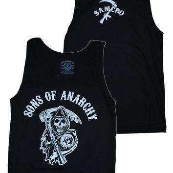 Sons Of Anarchy Reaper Logo Samcro Jersey Tank S M L XL 2XL 3XL New Licensed