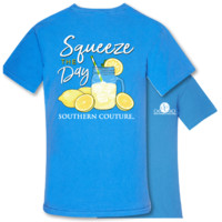 Southern Couture Squeeze the Day Lemonade Comfort Colors T-Shirt