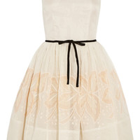 RED Valentino | Embroidered silk dress | NET-A-PORTER.COM