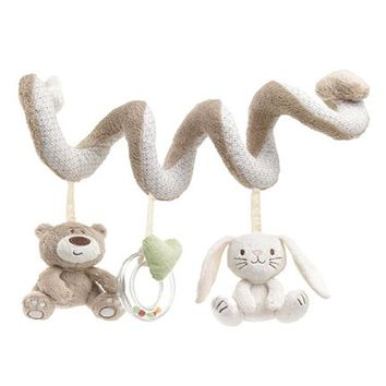 Baby Toys Cute Bear Rabbit Infant Baby Rattles Hanging Educational Toys Doll Bed Stroller Seat Kid Rattles