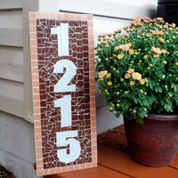Address Sign, Mosaic House Numbers