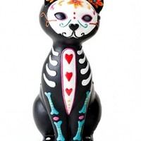 """Kitty Love"" Skeleton Statue"