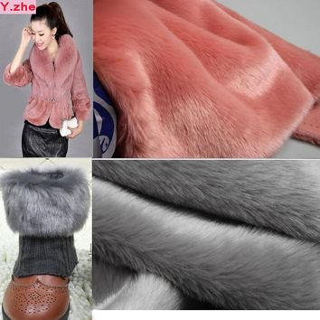 Faux Fur Fabric 180x50cm1pc Good 20 Colours Rabbit Soft Plush Faux Fur Fabric Sewing Material Diy Home Cloth/Collar Clothing Fur