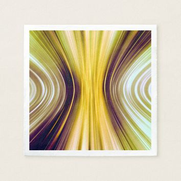 Sea Shell Yellow Moon Driving Dreams Paper Napkins