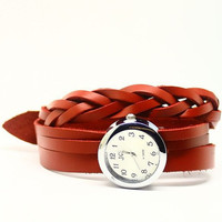 Women's Leather Wrap Watch (TX0102)