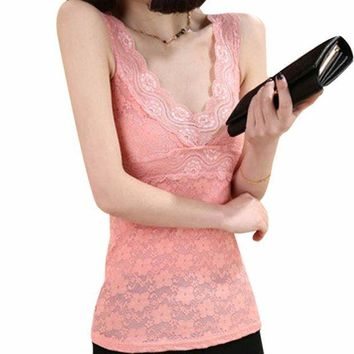 Sexy Corset Solid Sexy Lingerie Women Underwear Women Lace Floral T Shirt Tank Tops Sleeveless Stretch Crochet Vest Newest