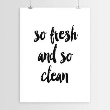 Bathroom Decor So Fresh and So Clean Bathroom Art Bathroom Print Laundry Room Decor Laundry Print Laundry Art Cleaning Art Typography Print