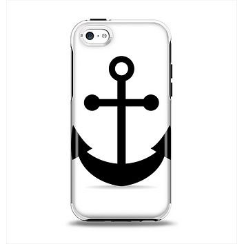 The Solid Black Anchor Silhouette Apple iPhone 5c Otterbox Symmetry Case Skin Set