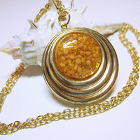 Seed Pendant, Gold Pendant, Seed Necklace, Seeds Of Life, Gold Seeds, Seed Jewelry, Women's Jewellery