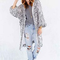 Indah Oversized Cardigan Sweater- Black & White One