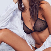 Out From Under All Or Nothing Swiss Dot Triangle Bra | Urban Outfitters
