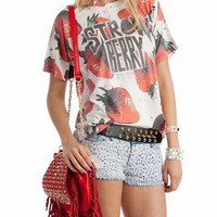 graphic strawberry top $20.70 in RED - Graphics | GoJane.com
