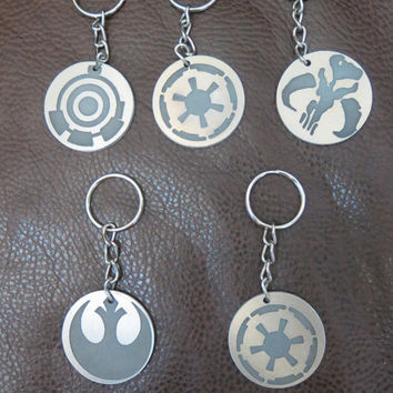Star Wars inspired Metal Carved Handmade Keychain