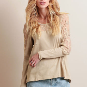 Draft House Crochet Detail Top