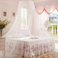 High Quality 1pc Elegant Round Lace Insect Bed Canopy Netting Curtain Dome Mosquito Net Worldwide