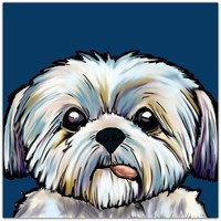Shih Tzu dog Art Print by Cartoon Your Memories