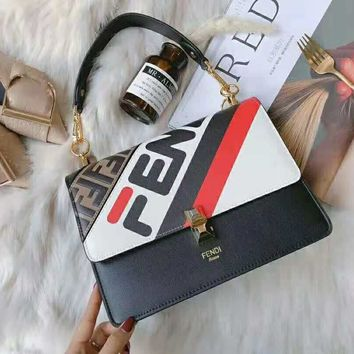 FENDI High Quality Fashionable Women Shopping Bag Leather Handbag Tote Shoulder Bag